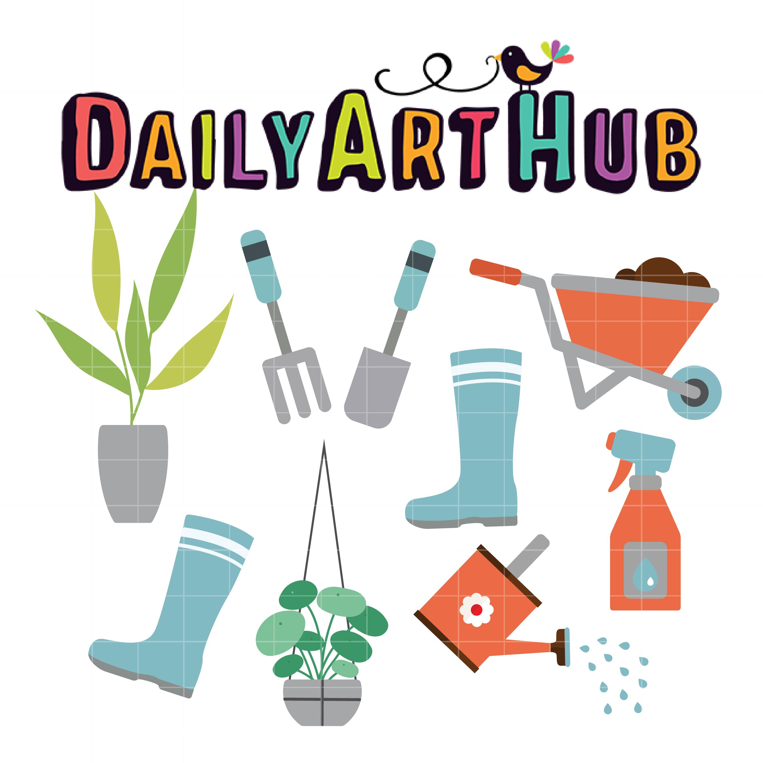 Gardening Tools Clip Art Set Daily Art Hub Free Clip Art Everyday