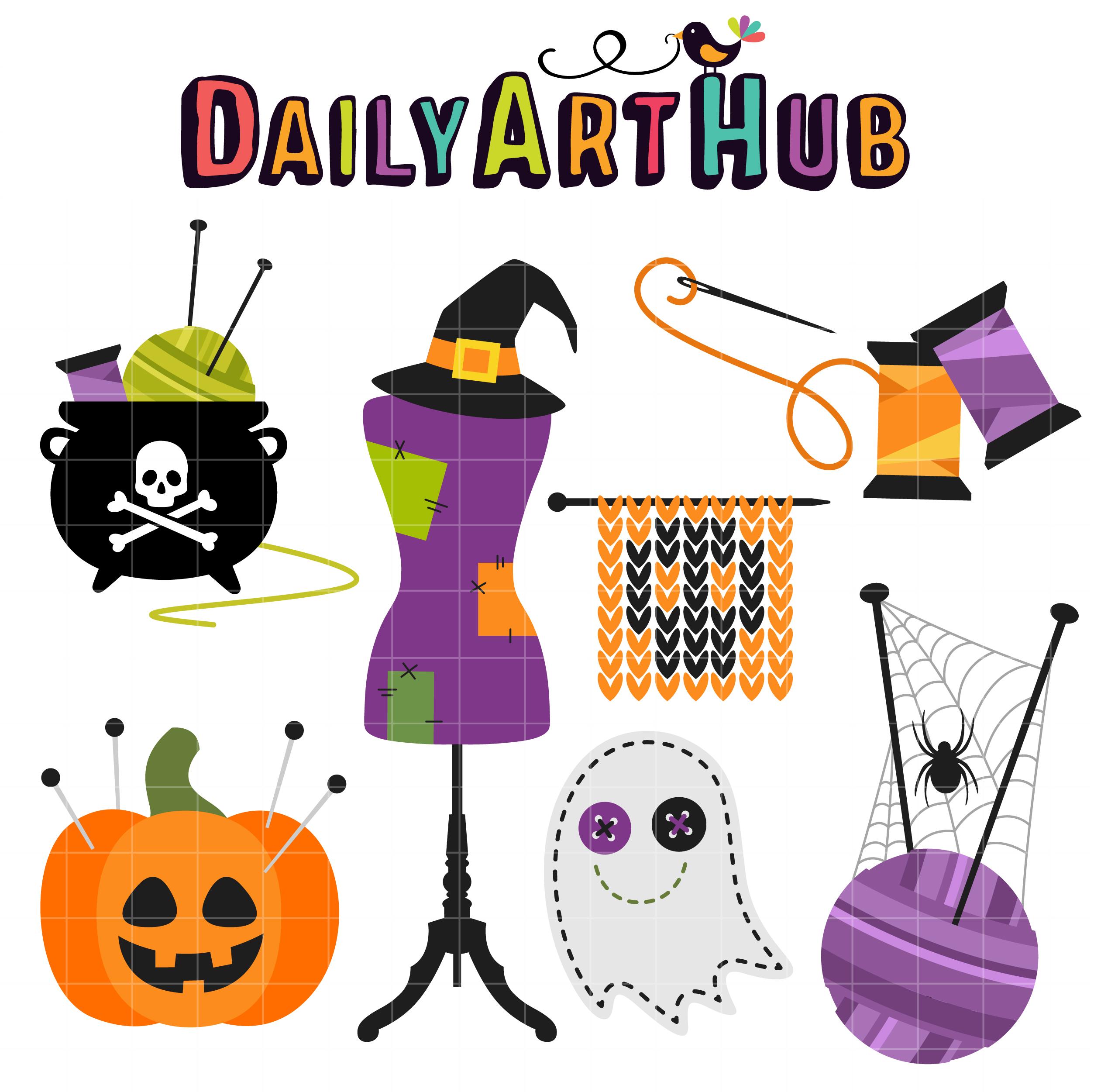 Spooky Seamstress Clip Art Set Daily Art Hub Free Clip Art Everyday