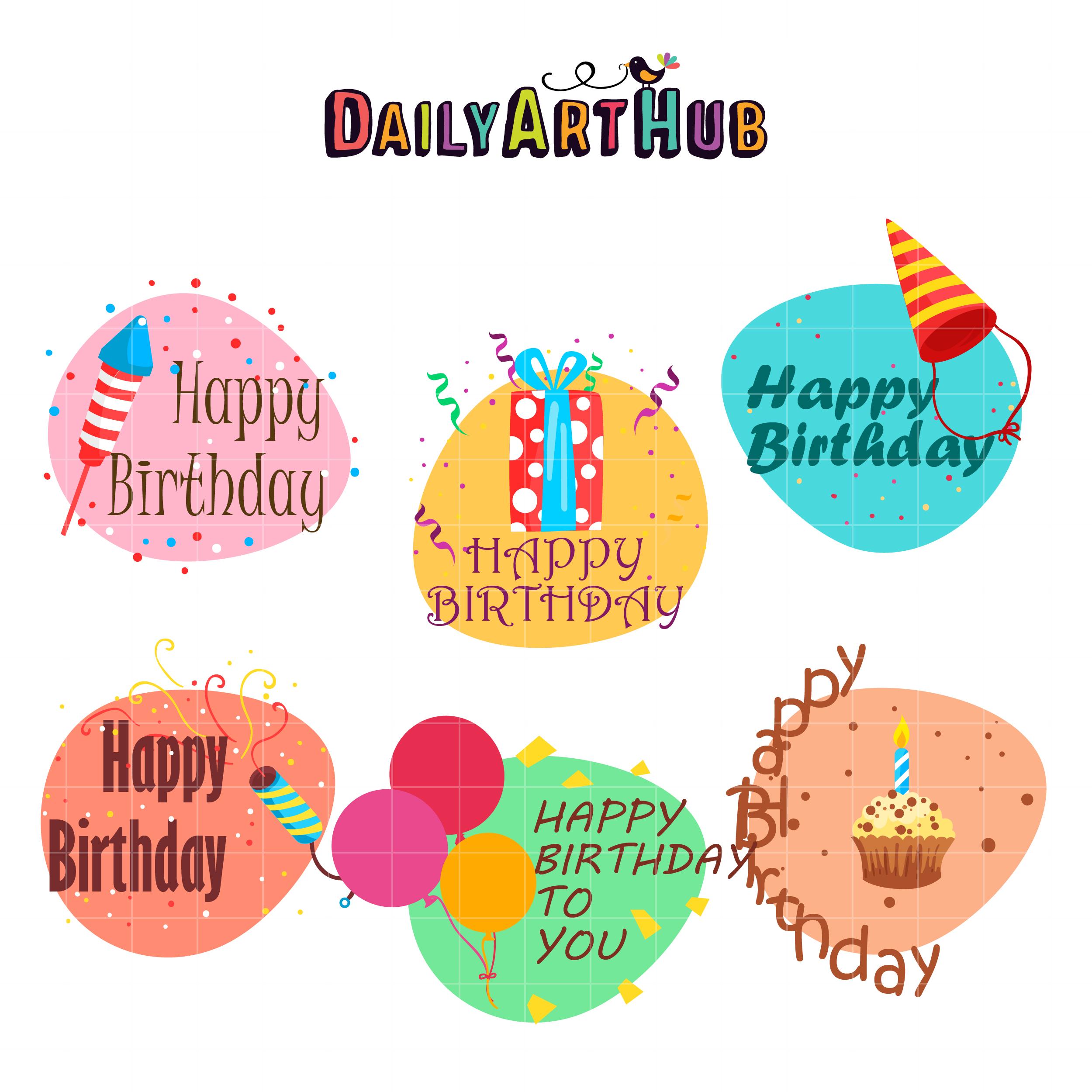 Birthday Greetings Clip Art Set Daily Art Hub Free Clip Art Everyday