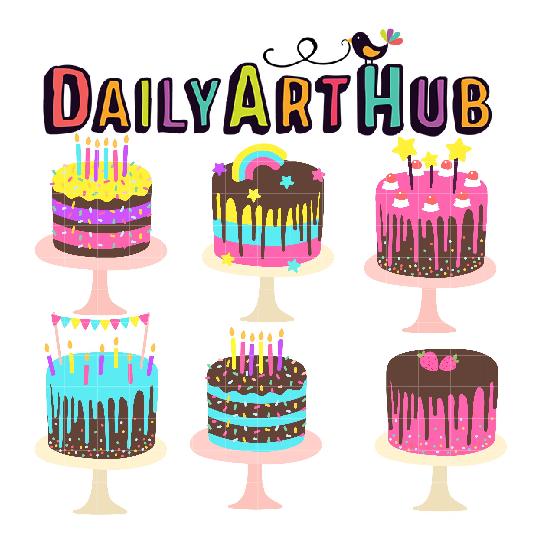Colorful Birthday Cake Clip Art Set Daily Art Hub Free Clip Art Everyday